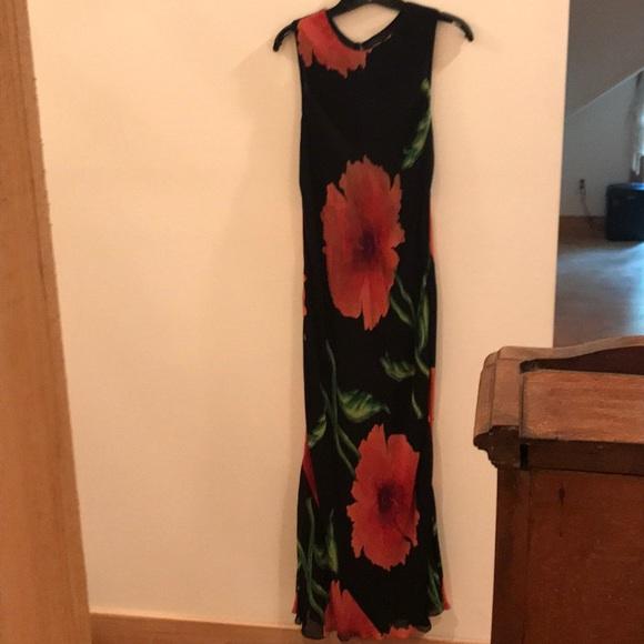 Nostalgia Dresses & Skirts - Nostalgia Black and Red Floral Maxi Dress, Jrs L